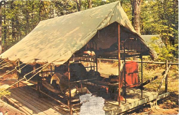 connecticut scout camps through postcards