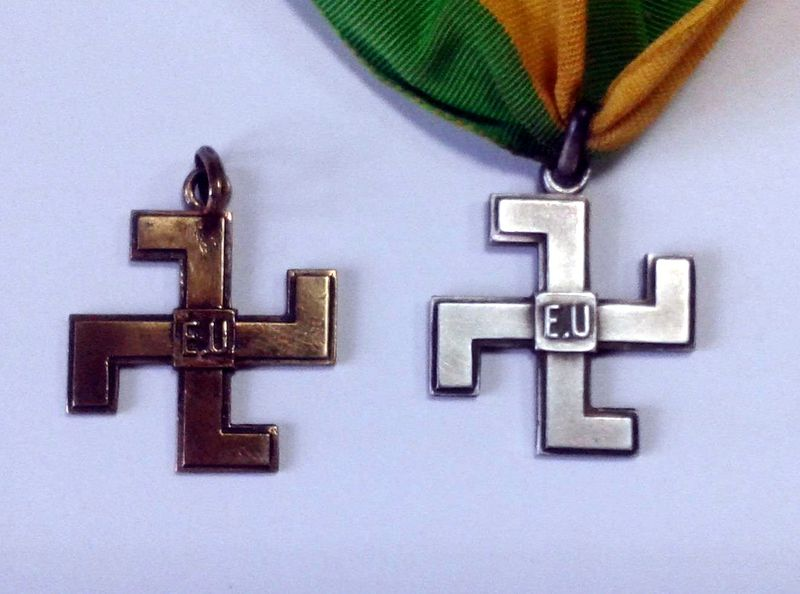 French Swastika Badge